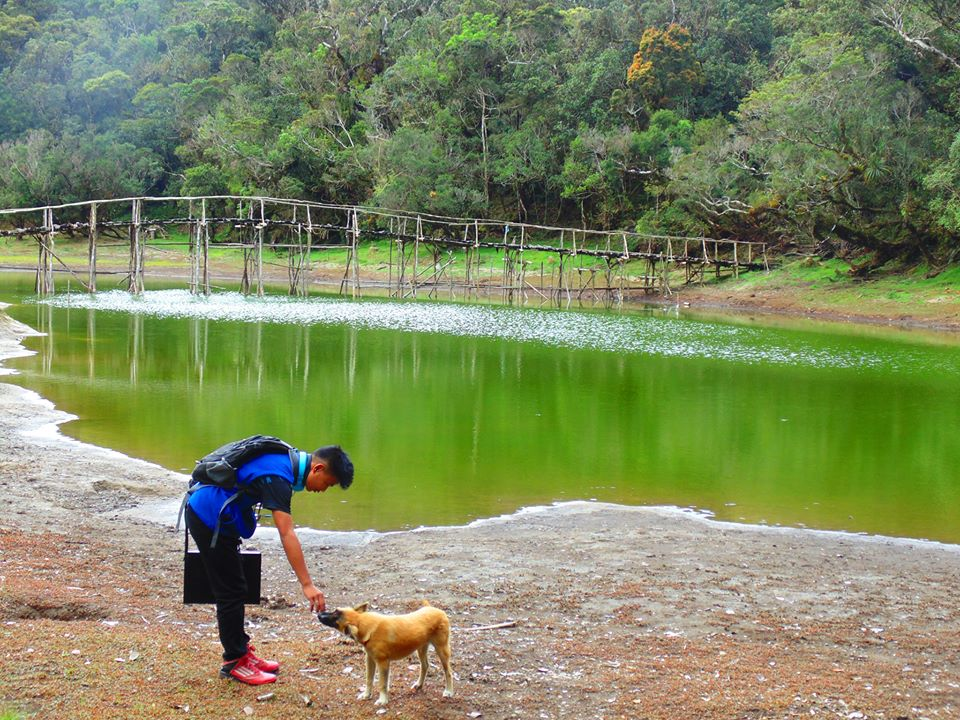 Lake Tufub in Lingoy. One of the tourist spots of Barlig, Mountain Province.