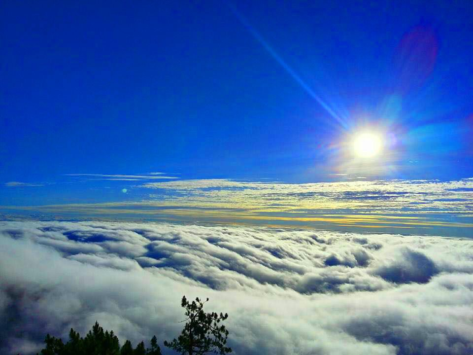 Sea of clouds as viewed from Mt Amuyao of Barlig