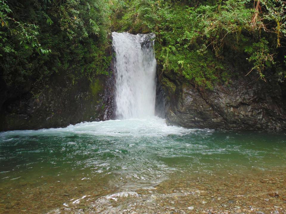 Amfitayok falls of Kadaclan. One of the tourist spots of Barlig, Mountain Province.