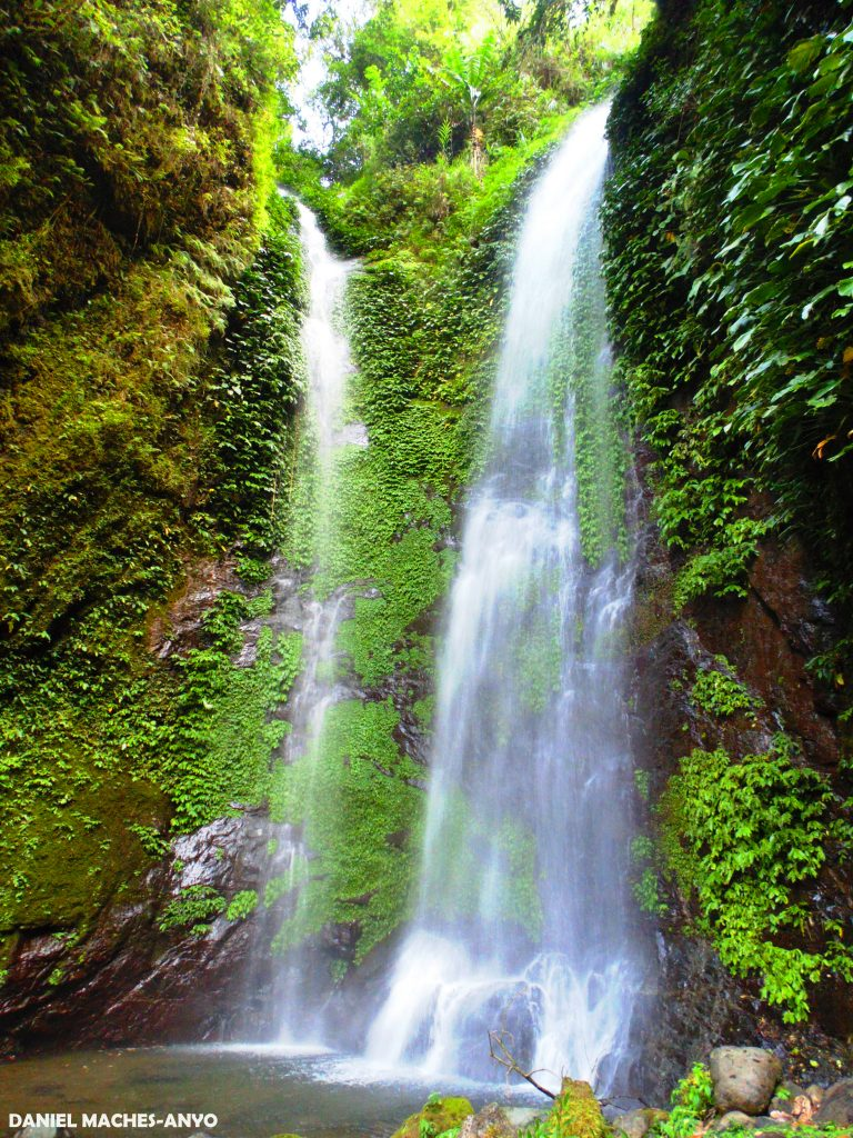 Kafiliw Twin Falls of Lias Kanluran. One of the tourist spots of Barlig, Mountain Province.