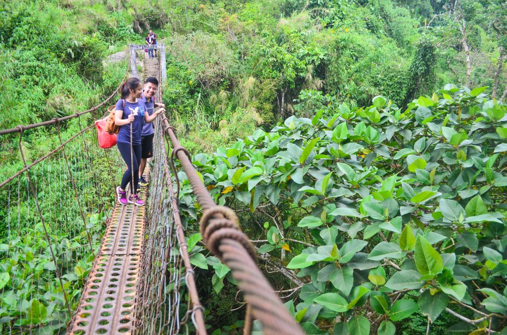 Hanging bridge to Badeo, Kibungan