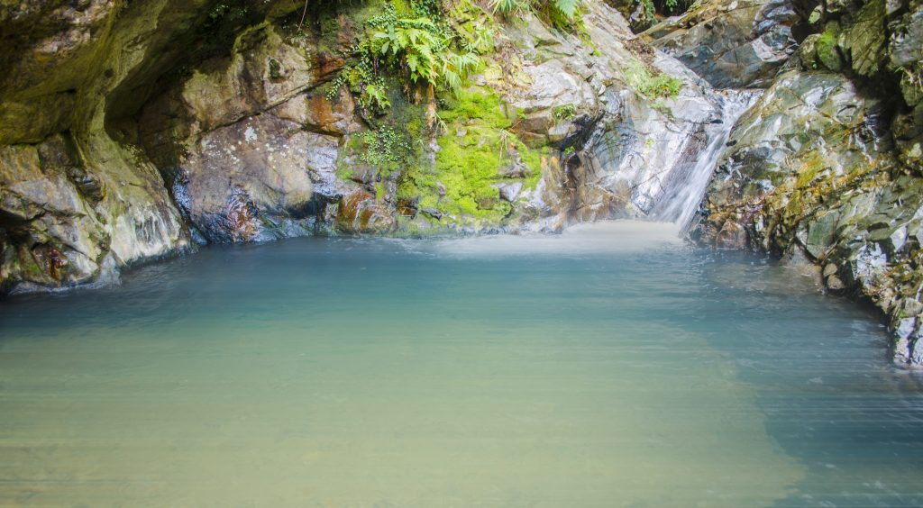 Blue Lagoon. One of the tourist spots of Bontoc, Mountain Province.