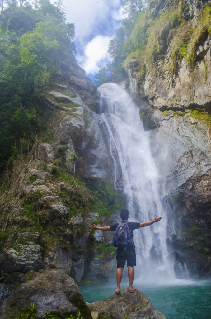 Fuwaas Falls in Belwang. One of the tourist spots of Sadanga, Mountain Province.