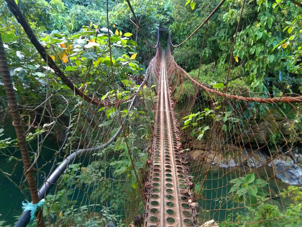 Hanging Bridge heading to Bayokbok Falls.