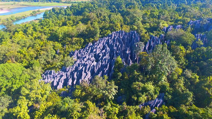 Dupag Rock Formation in Luna. One of the tourist spots of Apayao.