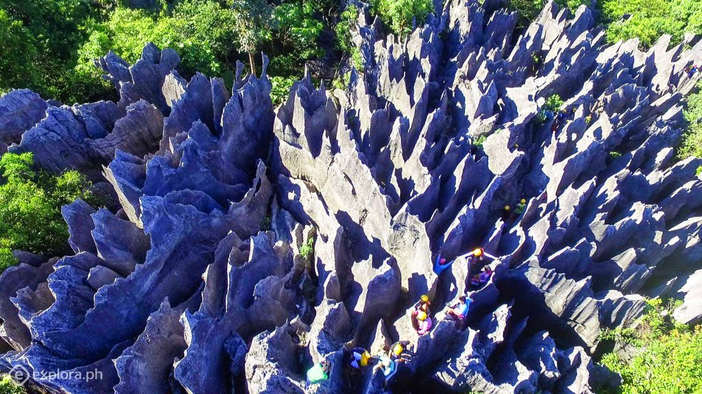 Aerial view of Dupag Rock Formation in Luna. One of the tourist spots of Apayao.