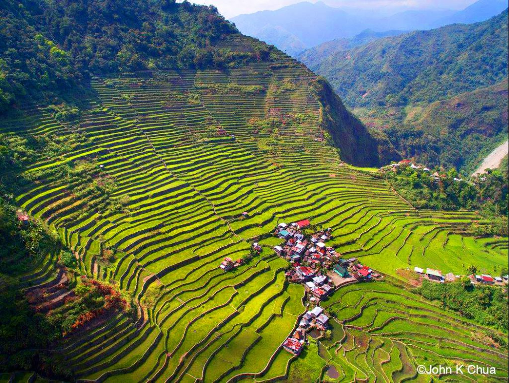 Batad Rice Terraces. One of the tourist spots of Ifugao.