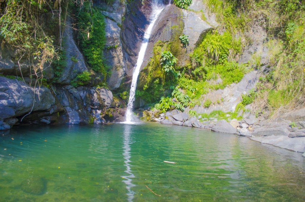 Payogpog falls of Shilan, La Trinidad. One of the tourist spots of Benguet.