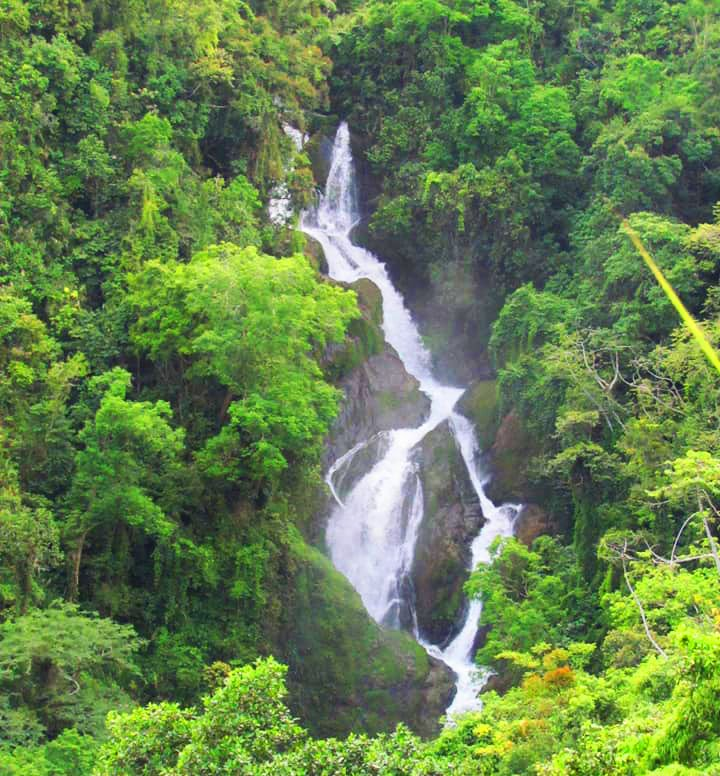 Bagnit Falls, Kiangan. One of the tourist spots of Ifugao.