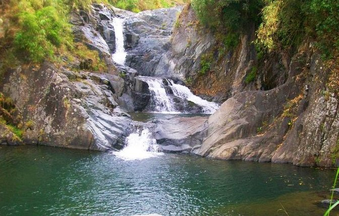 Ub-ubanan Falls. One of the tourist spots of Tadian, Mountain Province.