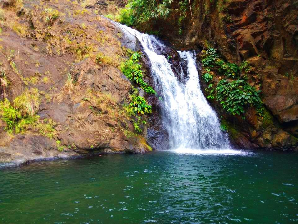 One of the smaller cascades of Badi falls. This is one of the tourist spots in Kapangan, Benguet.