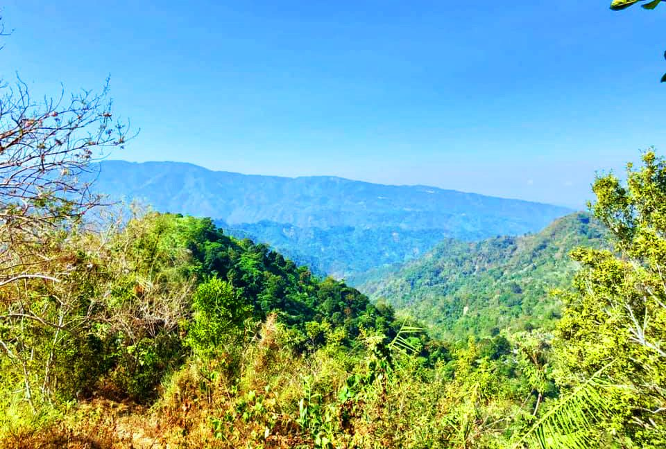 Mountain views as seen along the way going to Badi Falls of Kapangan, Benguet.