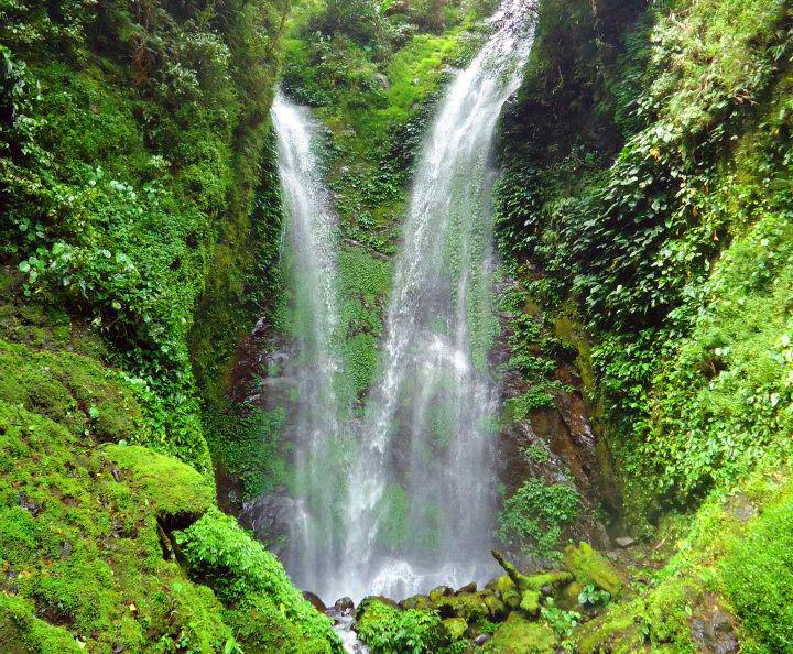 Kafiliw Twin Falls in Lias, Barlig. One of the waterfalls in Mountain Province.