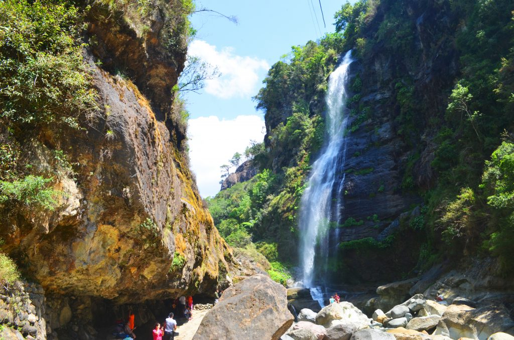 Our first sight of Bomod-ok Falls in Sagada.