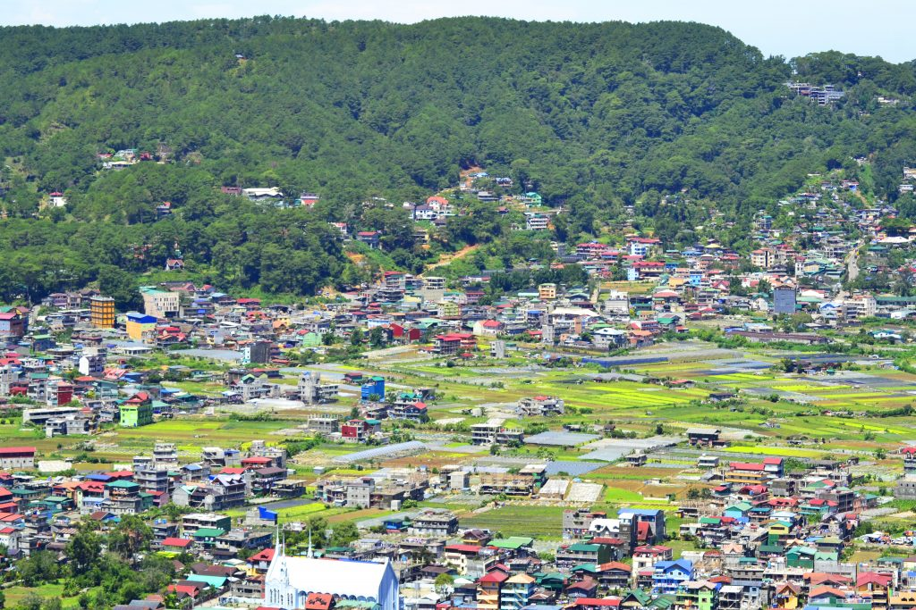 Partial view of La Trinidad as seen from Mt. Kalugong.