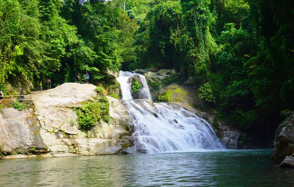 Lintungan falls is one of the tourist spots in Nueva Vizcaya,