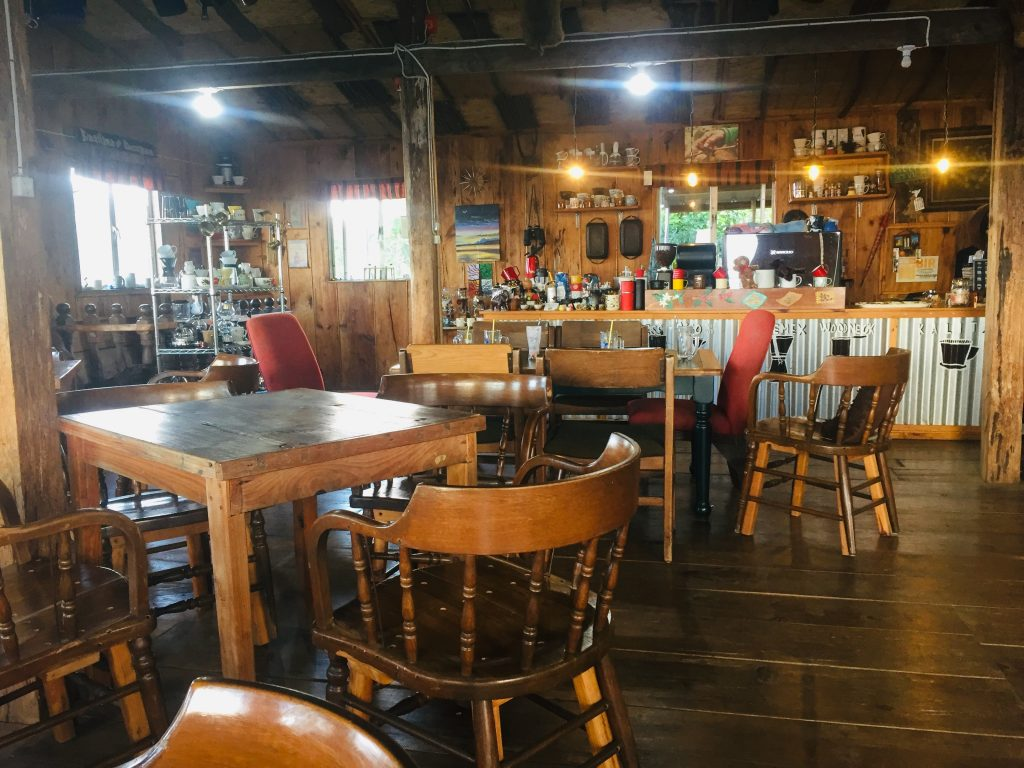 Inner view of Mt Kalugong Cafe