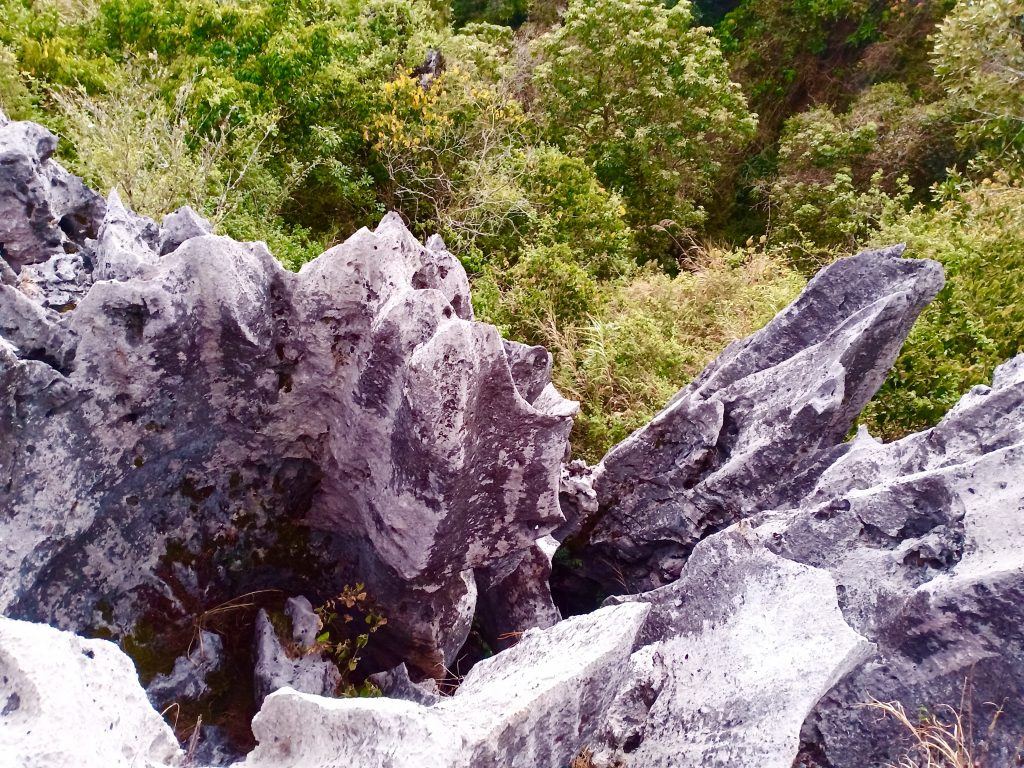 Rock formations along the way to the Hanging Coffins in Sagada