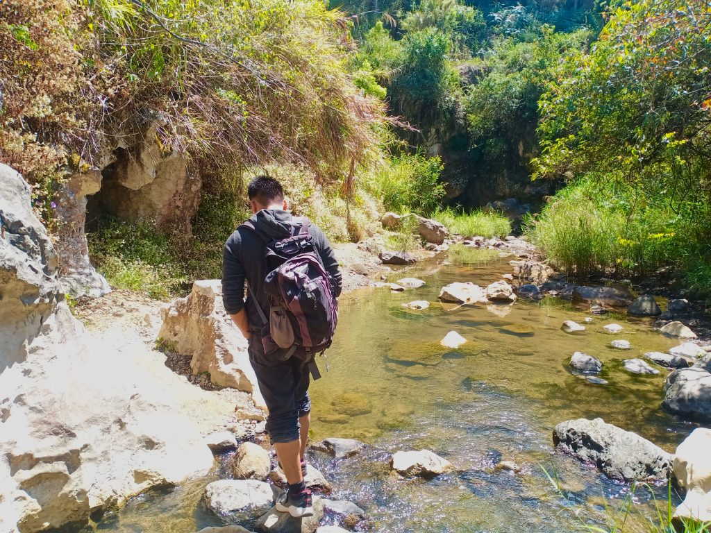 Following the brook leading to Sagada Underground River