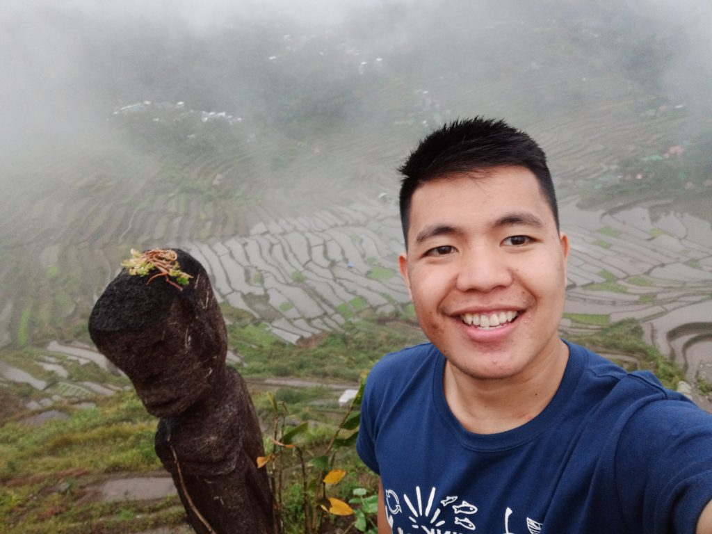 A foggy view of Batad Rice Terraces from the Highest Viewpoint