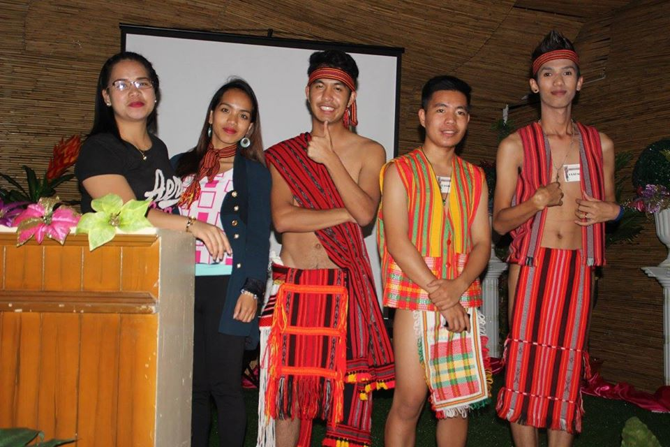Showcasing Igorot Costume for males, females, and kids.