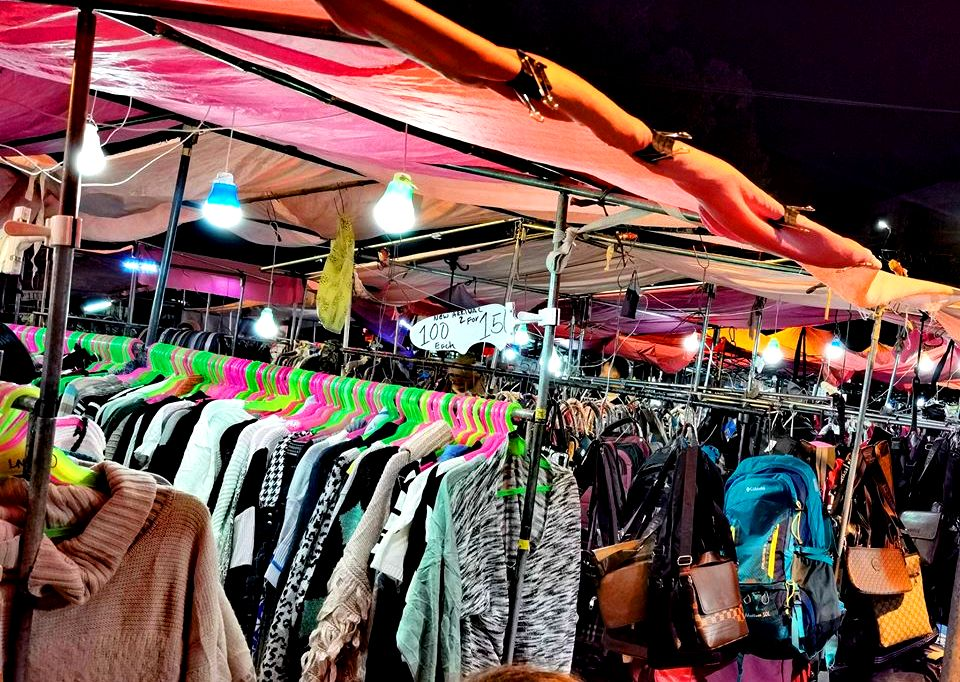 Ukay-ukay sold at Baguio Night Market