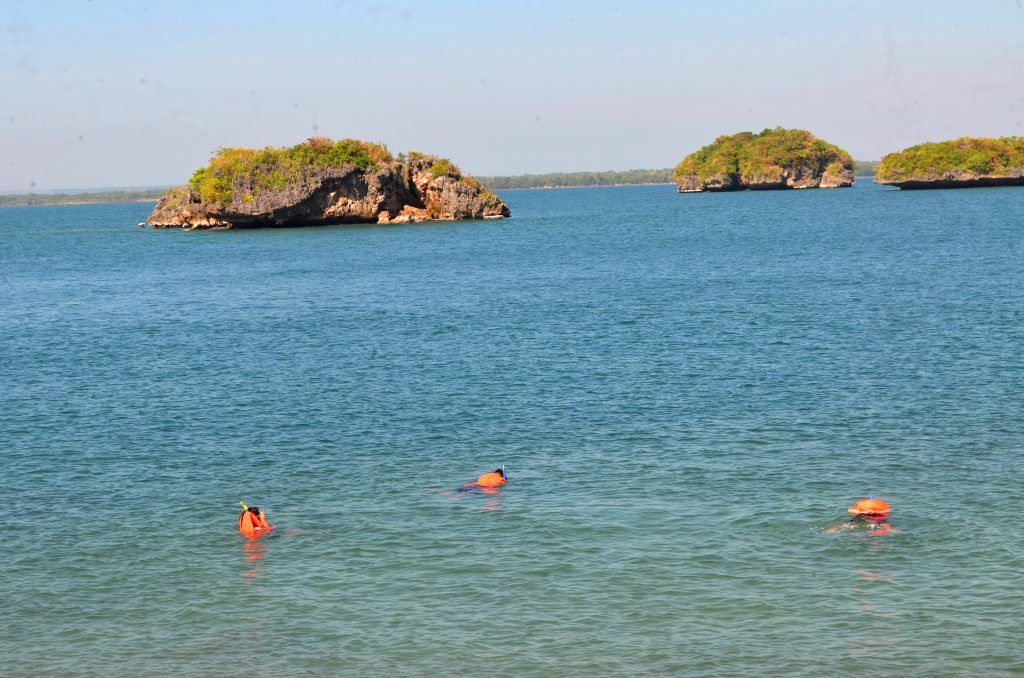 Enjoying the waters at Hundred Islands National Park in Pangasinan